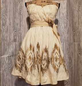 Anthropologie Moulinette Soeurs strapless dress